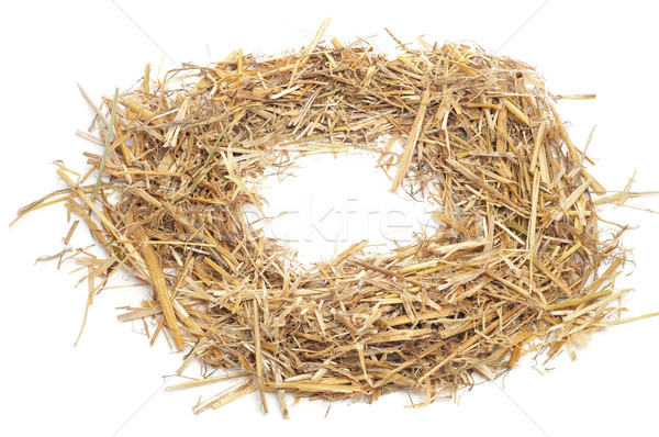 round straw frame Stock photo © nito