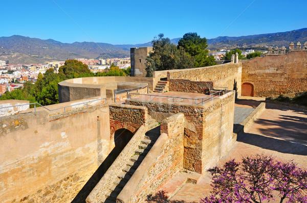 замок малага Испания мнение внутри небе Сток-фото © nito