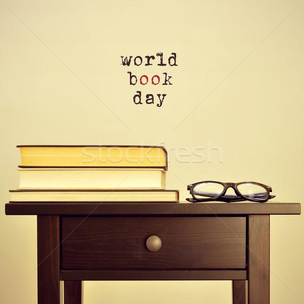 world book day, with a retro effect Stock photo © nito