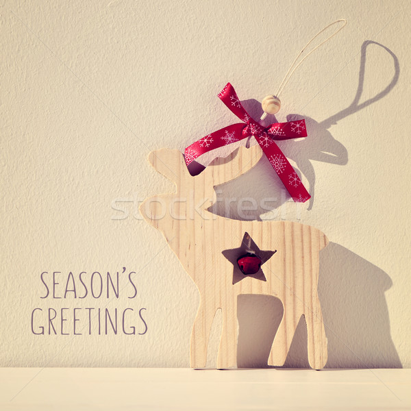reindeer and text seasons greetings, filtered Stock photo © nito