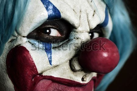 scary evil clown with a big knife Stock photo © nito