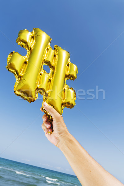balloon in the shape of a hash symbol Stock photo © nito