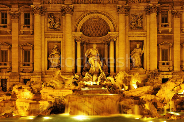 Fontana di Trevi in Rome, Italy Stock photo © nito