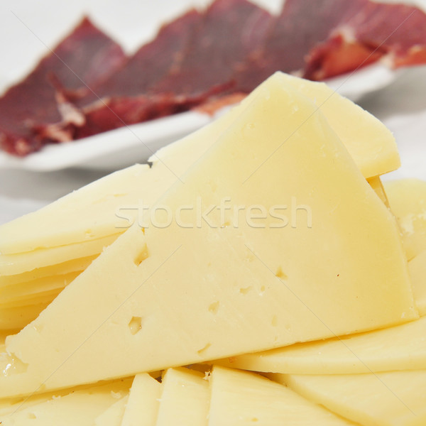 испанский Серрано ветчиной сыра Тапас Сток-фото © nito