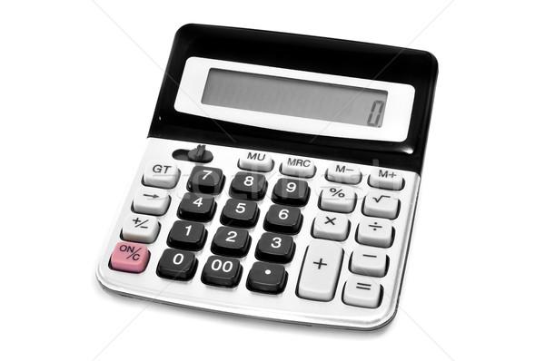 Elektronicznej Kalkulator biały klawiatury maszyny informacji Zdjęcia stock © nito