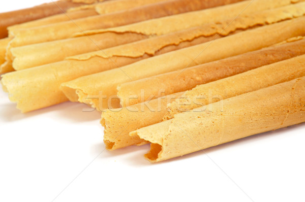 neulas, typical thin biscuit rolls eaten in Christmas in Catalon Stock photo © nito
