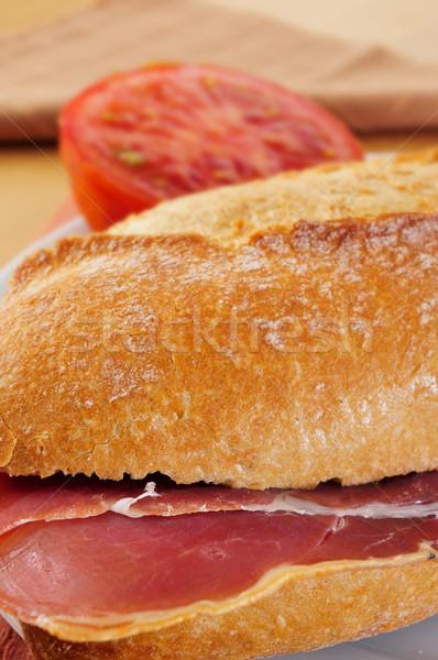 İspanyolca serrano jambon sandviç gıda Stok fotoğraf © nito