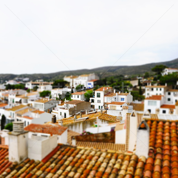 faked tilt shift of view of Cadaques, Costa Brava, Spain Stock photo © nito