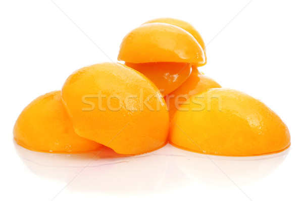 şeftali şurup soyulmuş beyaz meyve arka plan Stok fotoğraf © nito