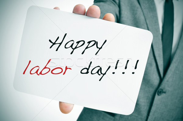 happy labor day Stock photo © nito