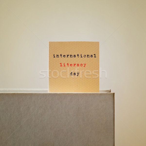 international literacy day Stock photo © nito