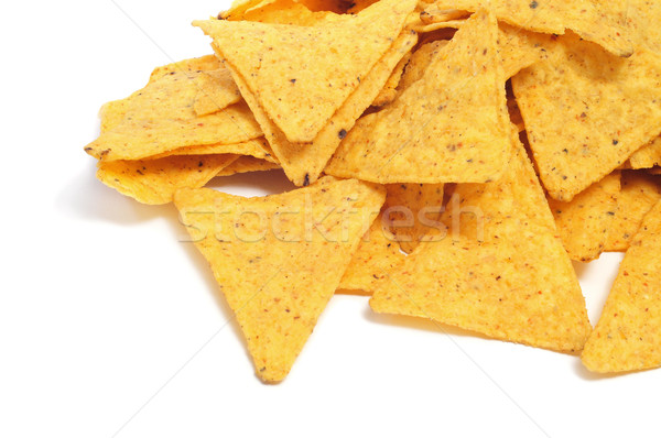 Nachos blanche alimentaire rouge chaud Photo stock © nito