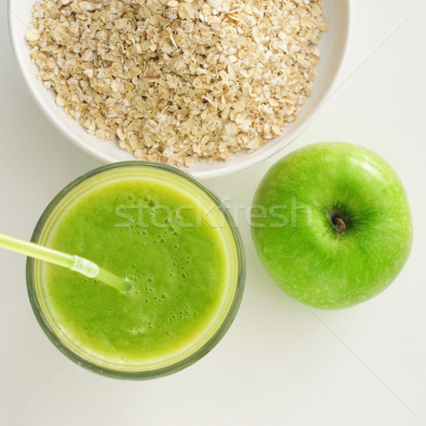 apple, smoothie and oatmeal cereal Stock photo © nito