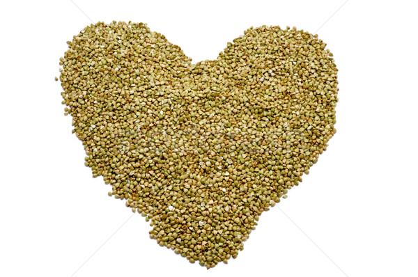 buckwheat seeds forming a heart Stock photo © nito