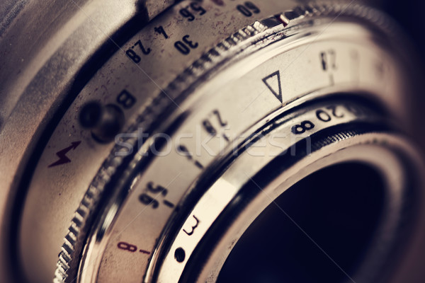 lens of an old camera Stock photo © nito