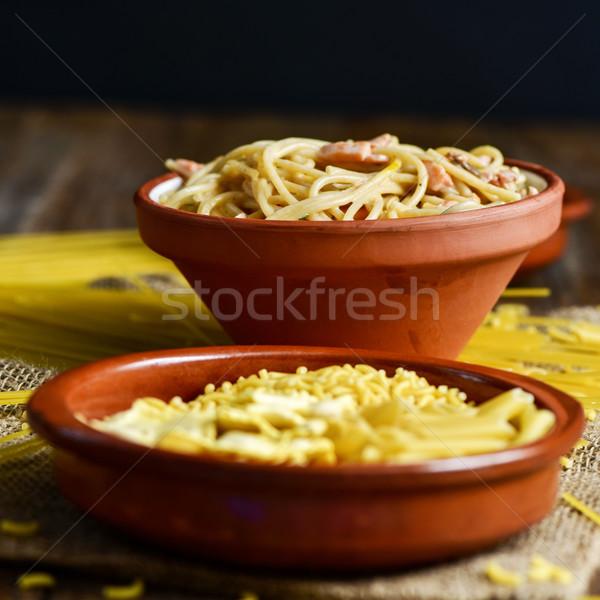 spaghetti alla carbonara Stock photo © nito