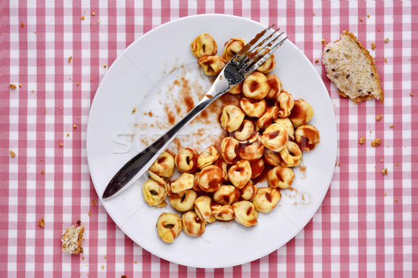 remainders of a pasta dish Stock photo © nito