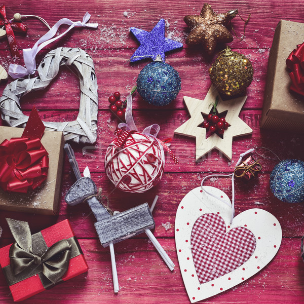 cozy christmas ornaments and gifts Stock photo © nito