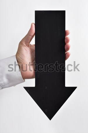 arrow-shaped signboard pointing downwards Stock photo © nito