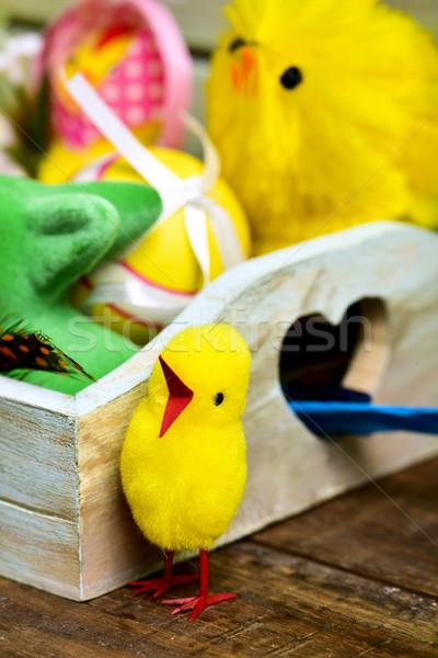 Játék díszített húsvéti tojások közelkép különböző Stock fotó © nito