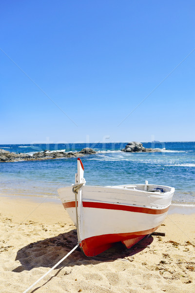 old fishing boat in Calella de Palafrugell, Spain Stock photo © nito