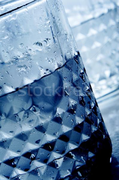 Rocas gafas bebidas primer plano hielo noche Foto stock © nito