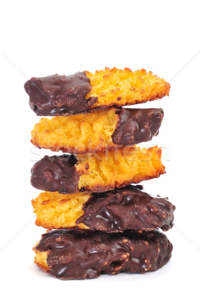 portuguese coconut pastries coated with chocolate Stock photo © nito