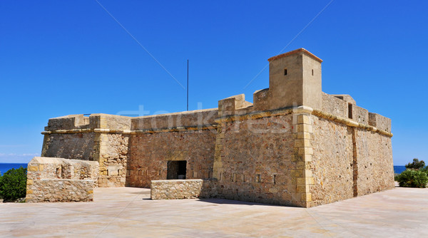 Sant Jordi de Alfama Fortress in Ametlla de Mar, Spain Stock photo © nito