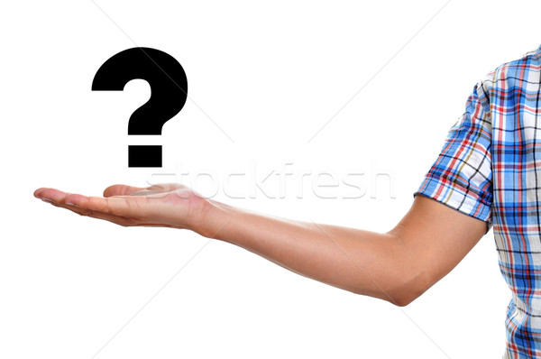 man holding a question mark Stock photo © nito