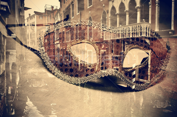 Carnaval Venise doubler exposition masque canal Photo stock © nito