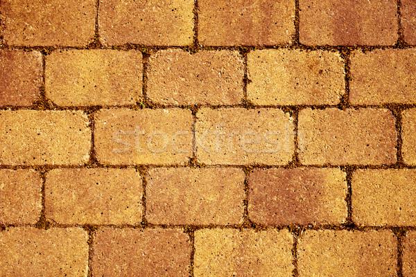 Mur kamień bruk pomarańczowy budynku Zdjęcia stock © nito