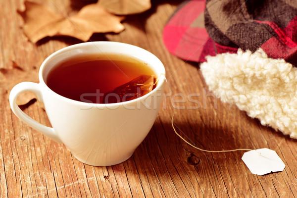 Кубок чай сумку белый керамической Сток-фото © nito