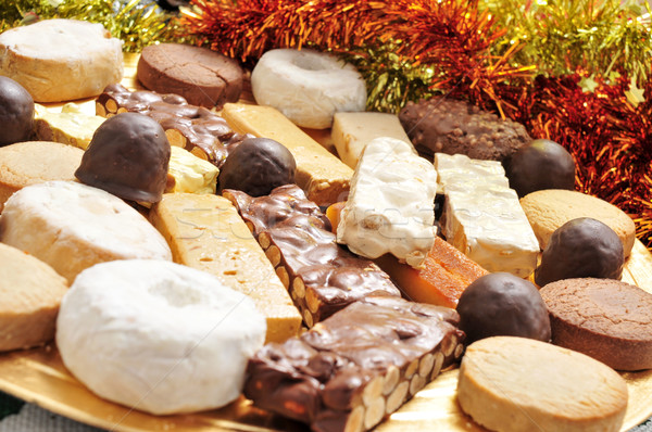 turron, mantecados and polvorones, spanish christmas confections Stock photo © nito
