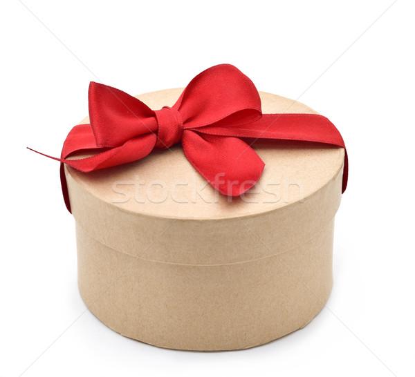 Geschenk boeg geschenkdoos witte achtergrond Stockfoto © nito