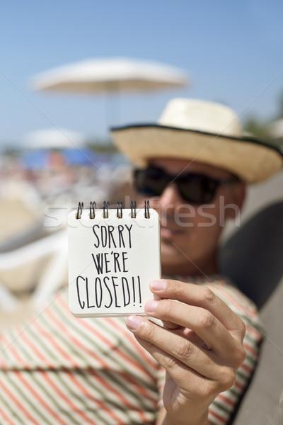 человека сведению текста закрыто Сток-фото © nito