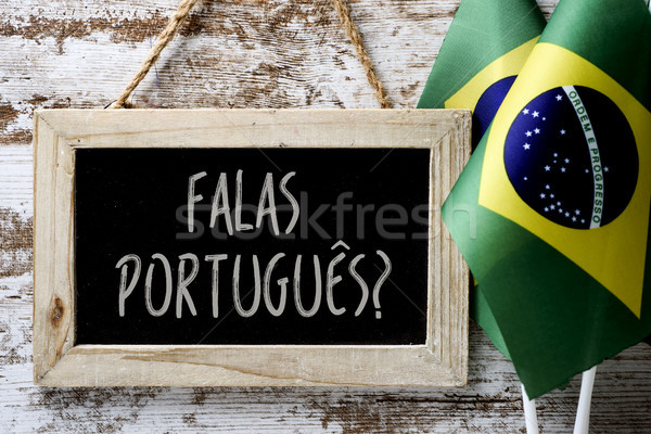 question falas portuges? do you speak Portuguese? Stock photo © nito