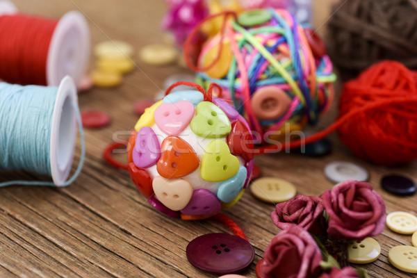 handmade christmas balls Stock photo © nito