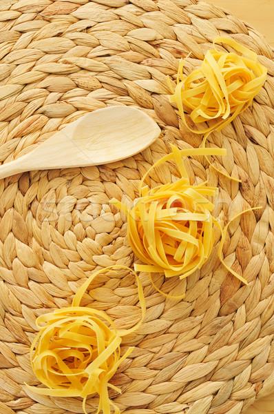 uncooked tagliatelle Stock photo © nito