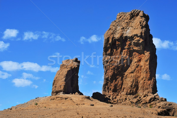 Roque Nublo monolith in Gran Canaria, Spain Stock photo © nito