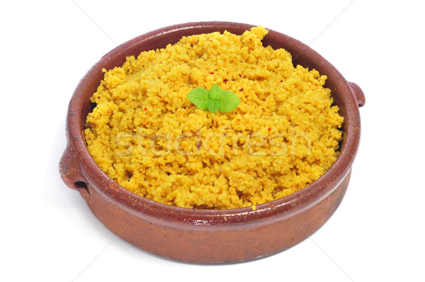Cuscús primer plano blanco alimentos comer cocina Foto stock © nito