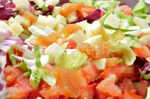 salad with diced cheese and quince jelly Stock photo © nito