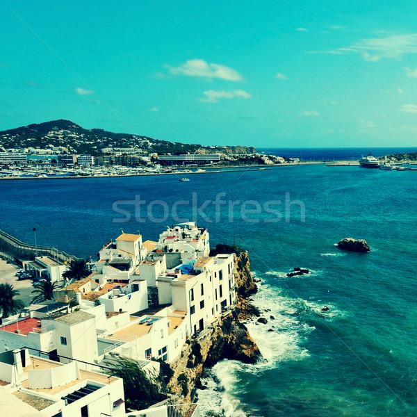 Kerület város szigetek Spanyolország kép retro Stock fotó © nito