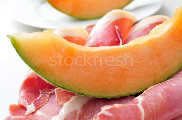Spaans serrano meloen plaat typisch Stockfoto © nito