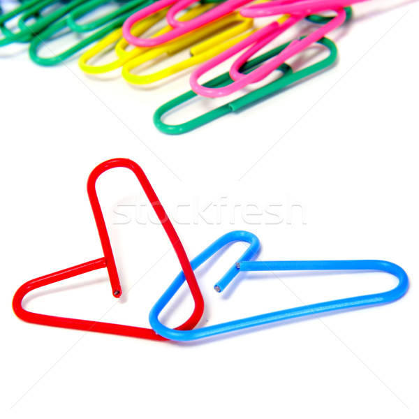 heart-shaped paperclips Stock photo © nito