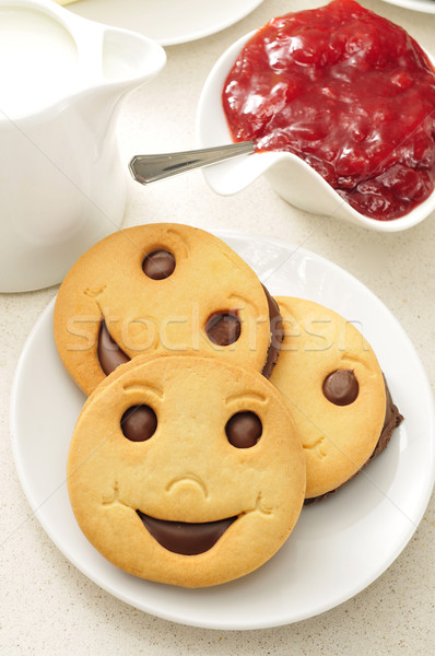 smiley biscuits and jam Stock photo © nito