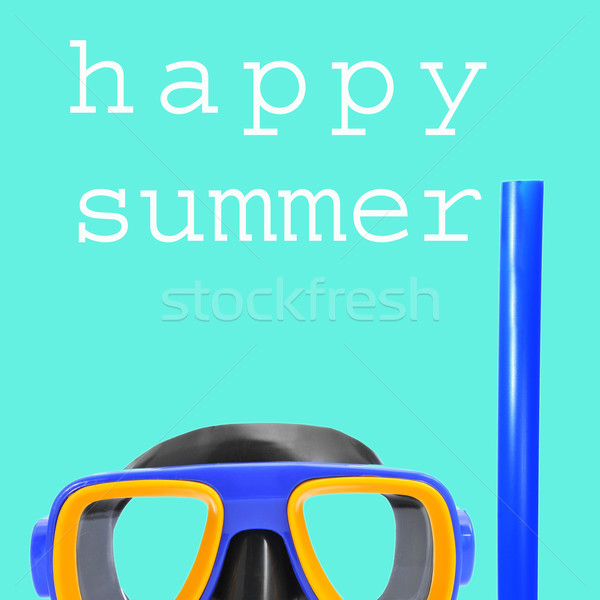 diving mask and the text happy summer Stock photo © nito