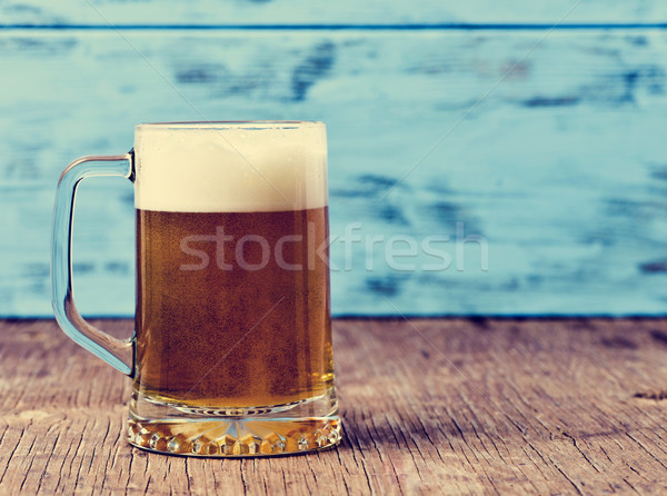 refreshing beer served in a glass mug  Stock photo © nito