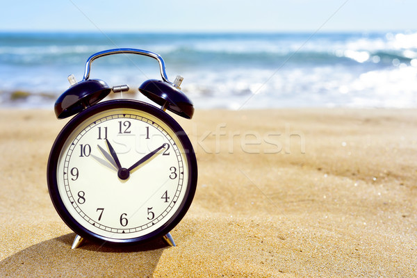 adjusting forward the clock for the summer time Stock photo © nito