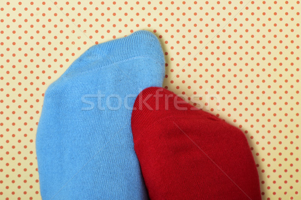 person with mismatched socks Stock photo © nito