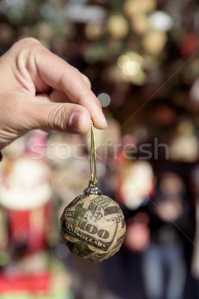 dollar ball in a christmas market Stock photo © nito